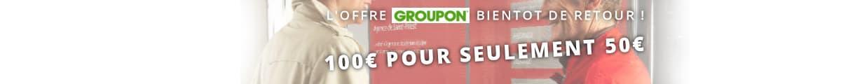 100€ pour 50€ avec Groupon !
