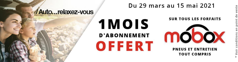 1 MOIS D'ABONNEMENT OFFERT SUR MOBOX !