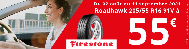 OFFRE FIRESTONE: 205/55R16 91V à 55€